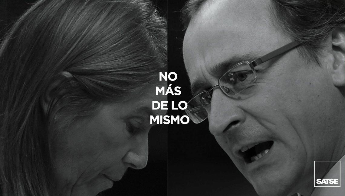 """Sr. Rajoy: """"¿Más de lo mismo? No gracias"""""""