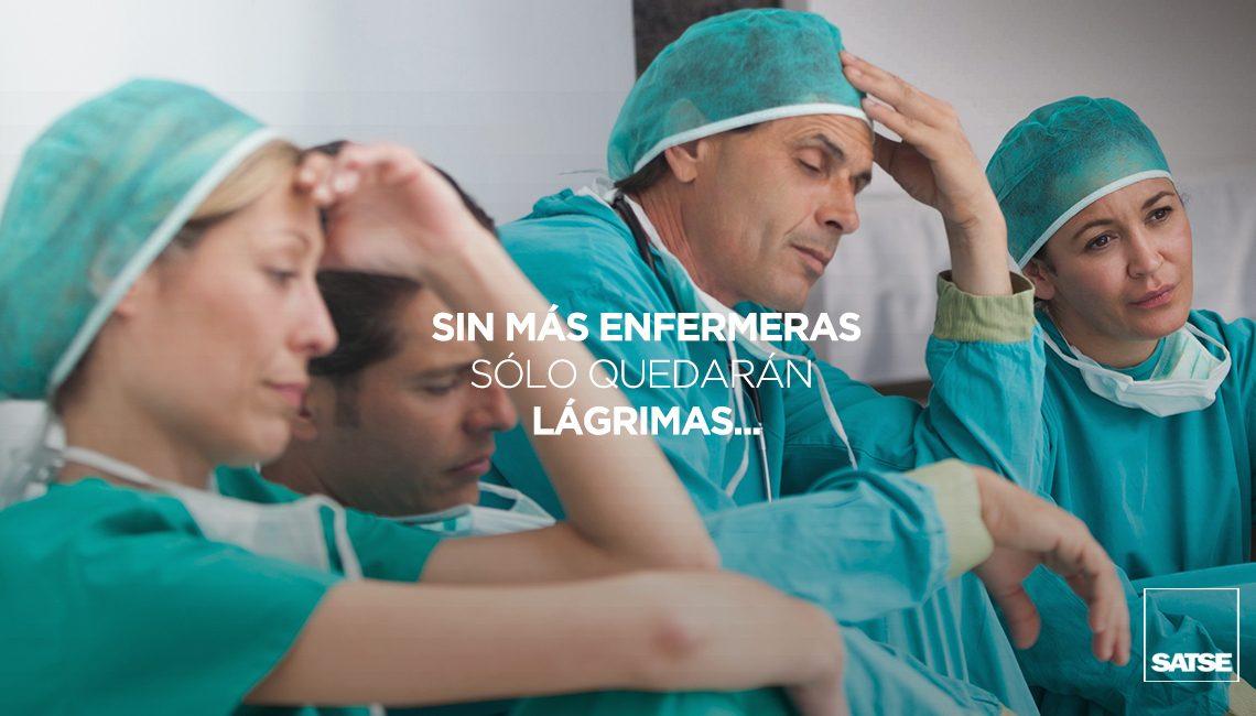 Sin más enfermeras, sólo quedarán lágrimas