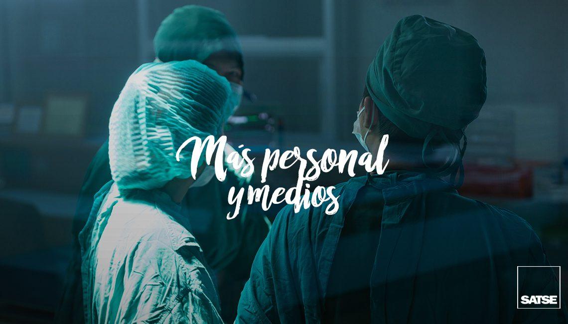 Más personal y medios para la Sanidad Pública
