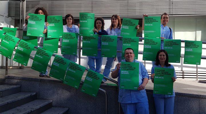 """La campaña de SATSE """"inunda"""" los centros sanitarios de España"""
