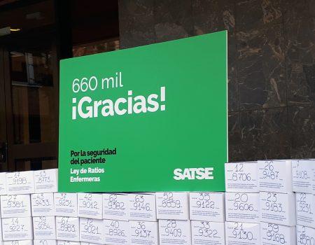 SATSE consigue más de 660.500 firmas para garantizar más enfermeras por ley