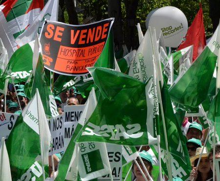 Manifestación de SATSE contra los recortes