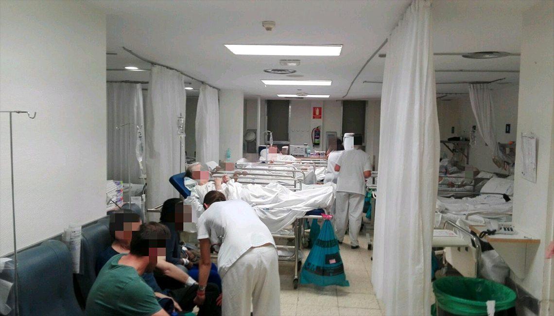 Saturación y colapso en las urgencias de los hospitales