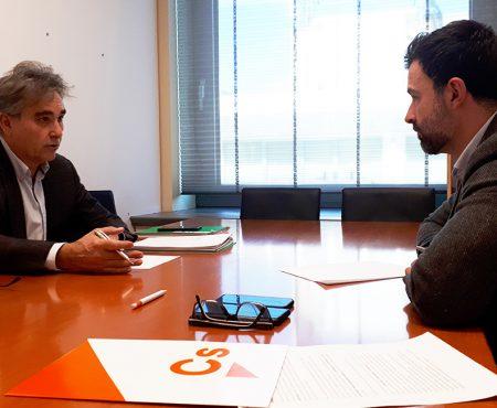 Manuel Cascos se reúne con Pablo Cambronero, diputado de Ciudadanos en el Congreso de los Diputados