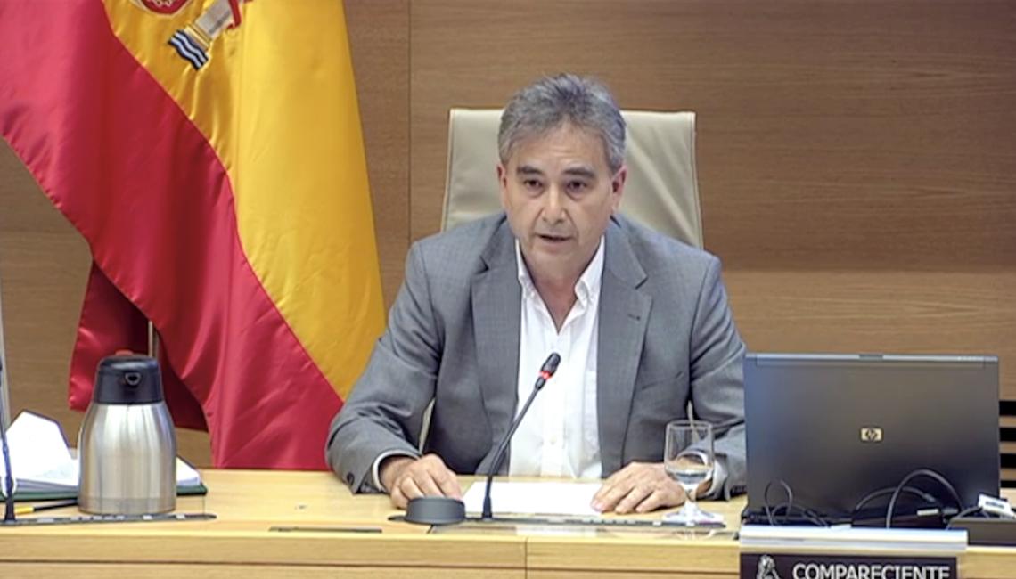 El presidente de SATSE, Manuel Cascos, participa en la Comisión para la Reconstrucción Social y Económica en el Congreso de los Diputados.