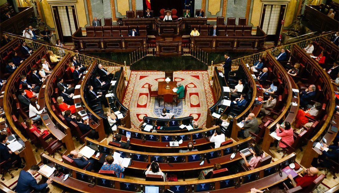 Congreso de los Diputados en plena crisis del COVID 19