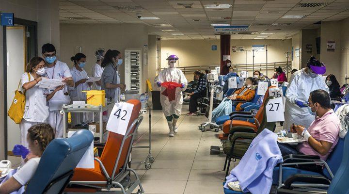 Hospital colapsado al inicio de la crisis del COVID 19