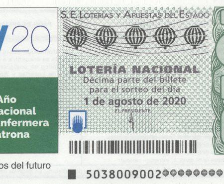 Un cupón de Lotería Nacional reconoce la labor de las enfermeras y enfermeros