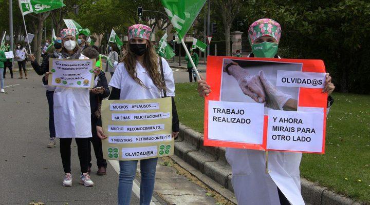 Protesta de SATSE en plena crisis del COVID